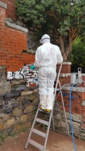 Lazzarotti Restauri Rimozione Graffiti Scalinata San Giorgio - durante