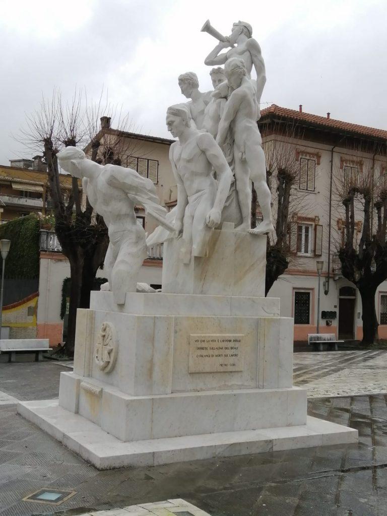 Monumento ai caduti sul lavoro di Floriano Bodini restaurato